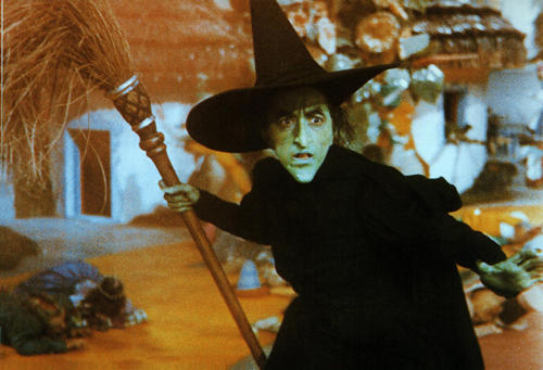 Wicked Witch Of The West Flying On Her Broom A View from the Edge: ...