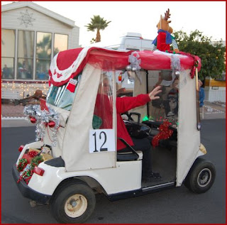 A View from the Edge: Christmas Comes to Val Vista Village Xmas Golf Cart Parade Themes Html on