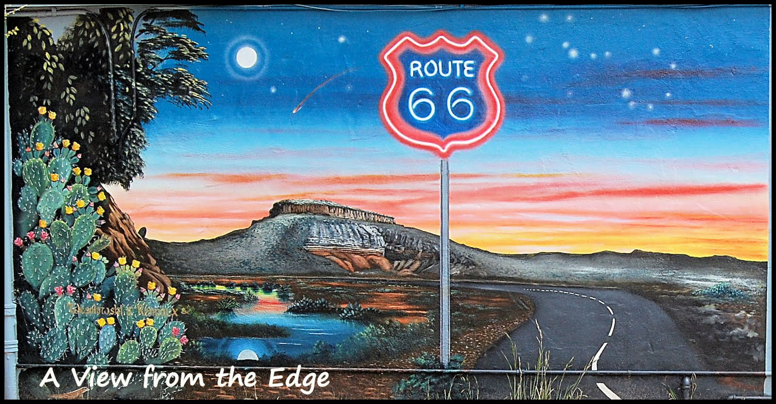 A view from the edge flashback friday tucumcari nm for Route 66 mural