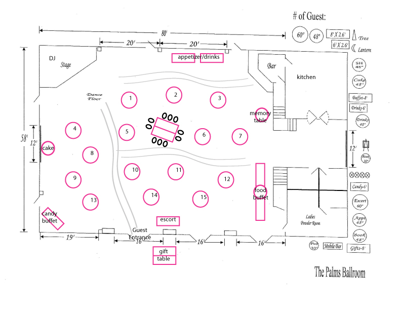 Tyler brittany wedding reception layout for Wedding reception layout