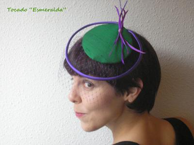 tocado de fiesta esmeralda