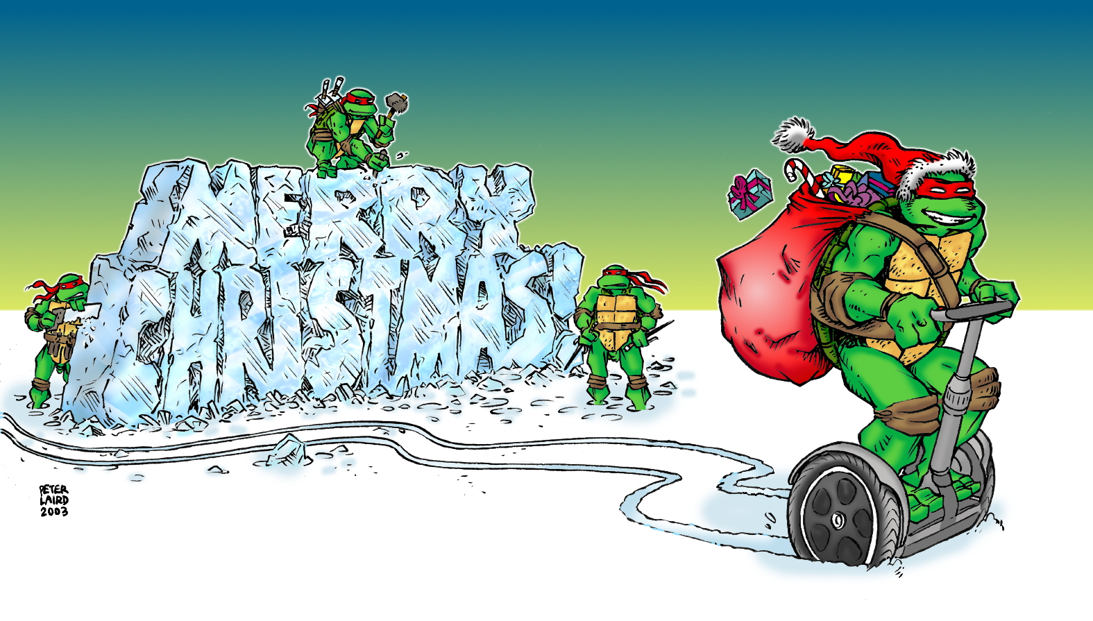Peter lairds tmnt blog blast from the past 331 2003 christmas card blast from the past 331 2003 christmas card sciox Image collections