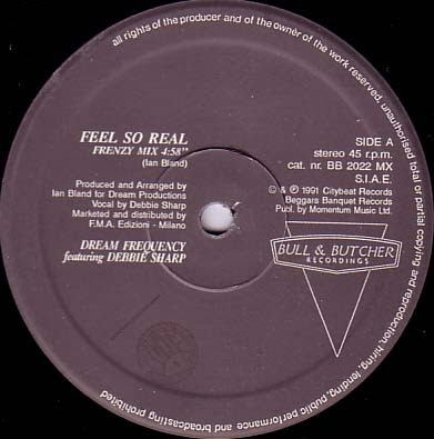 Classic house music dream frequency feel so real bull for 1991 house music