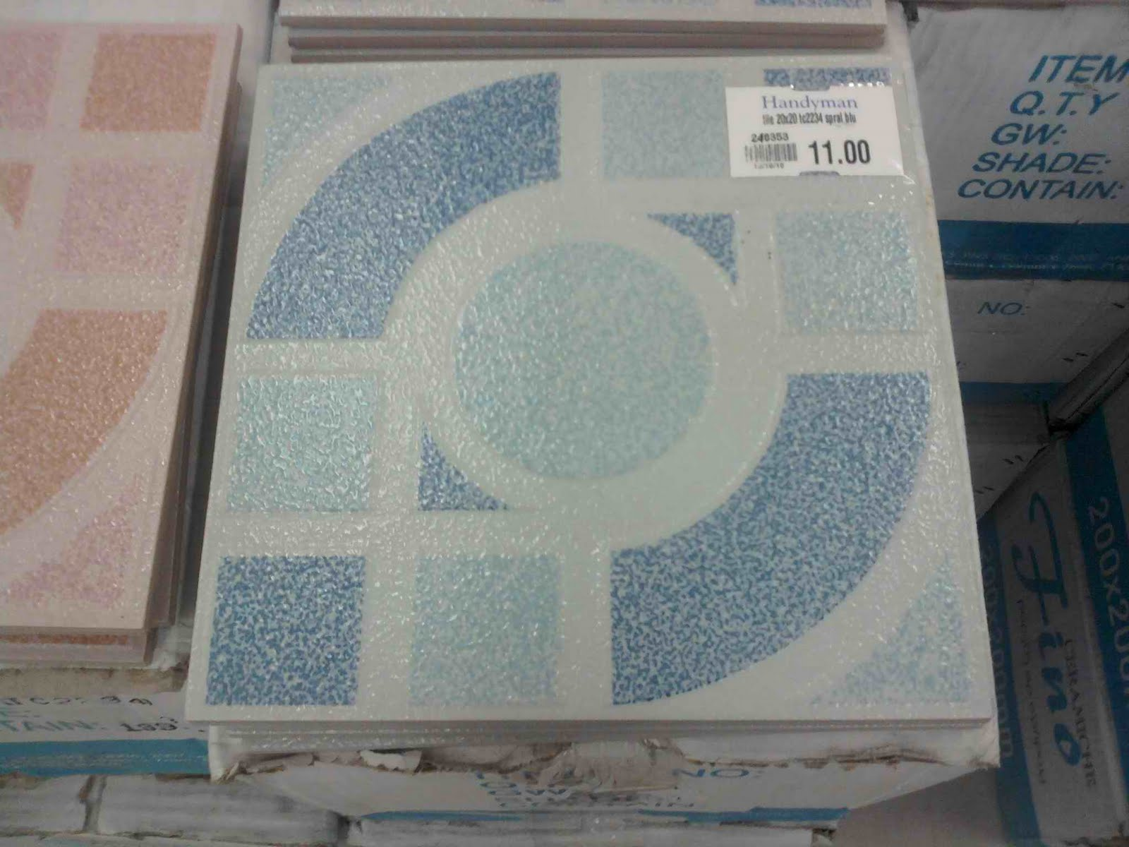 It Was A Choice Between These 8x12 Tiles For The Walls Of Bathroom But Later Won Because Price This One Below Is P33 Each While Other