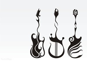 Guitar Tattoo Image