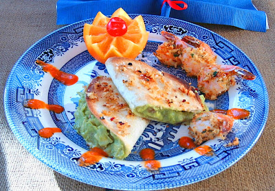 ... Gastronome: Tomatillo and guacamole mojo with baked garlic shrimp