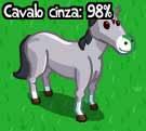 Cavalo cinza na mini fazenda