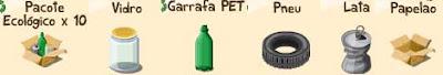 Materiais para reciclagem