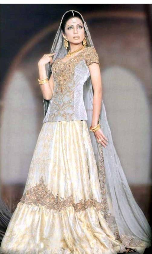 lehenga choli is very popular as bridal attire in india the lehenga