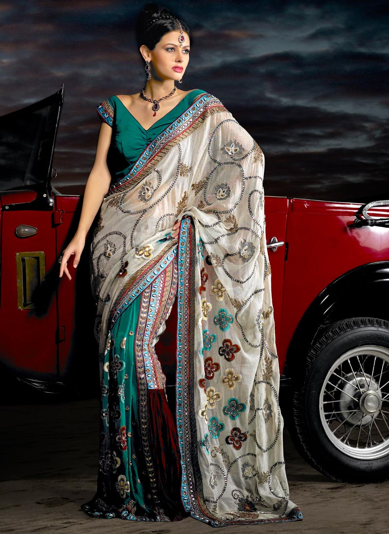 Gorgeous Pure Georgette Saree