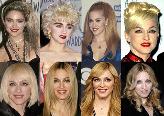 Мадонна и ее прически