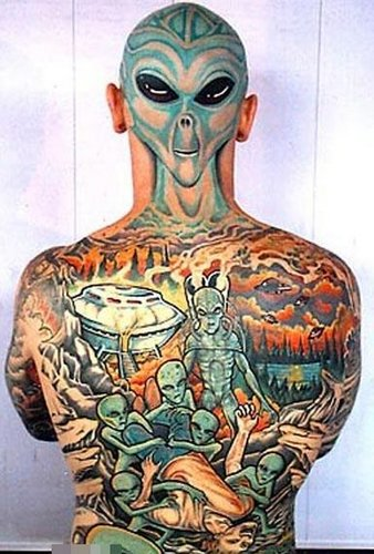 Japanese Famous Tattoo: Alien Tattoo Designs