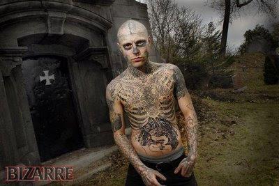 Zombie tattoo man