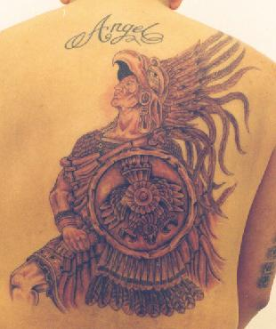 Aztec Tattoos on Tattoo Art Body  Aztec Tattoos