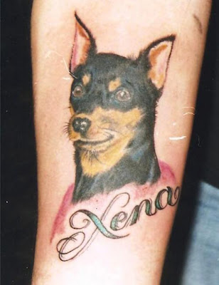 Checkout this picture gallery of some great dog tattoo ideas.