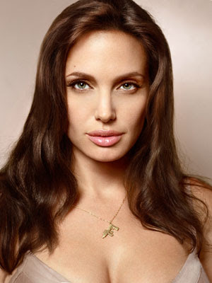 Angelina Jolie Medium Layered Hairstyles for Women