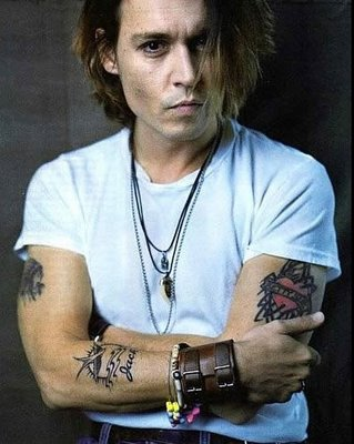 Celebrities Tattoo-Johnny Depp ranks