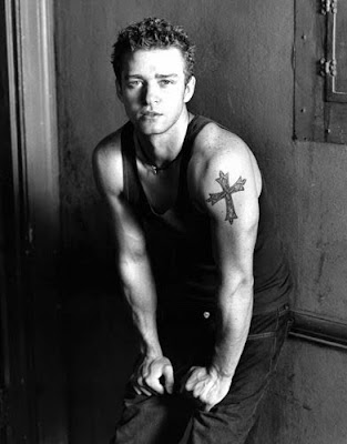 Justin Timberlake Cross Tattoos