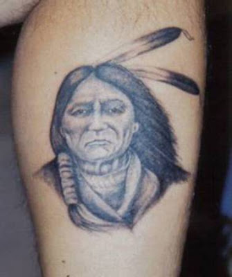 native american indian tattoo wolf feathers tattoo. Native American Tattoos
