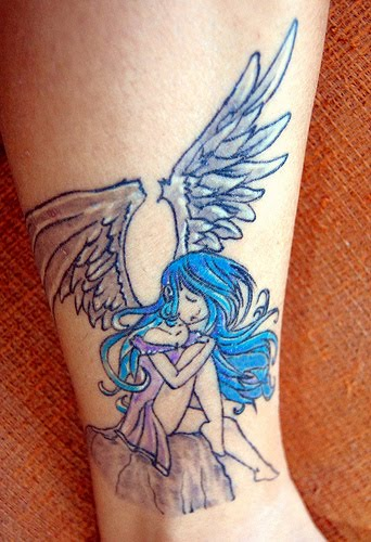 picture tattoo collection: Anime Angel Tattoo