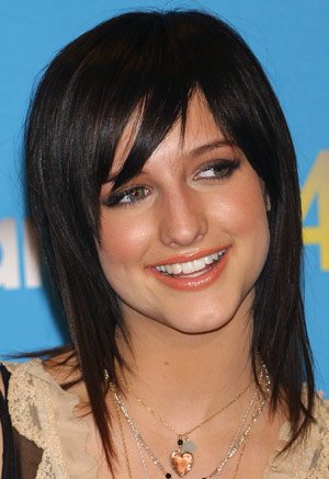 Ashlee Simpson hots and blonde hair