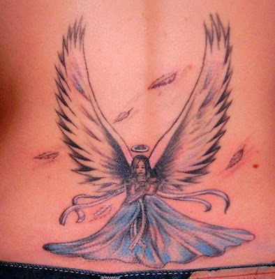 world people tattoos angel girl tattoos. Black Bedroom Furniture Sets. Home Design Ideas