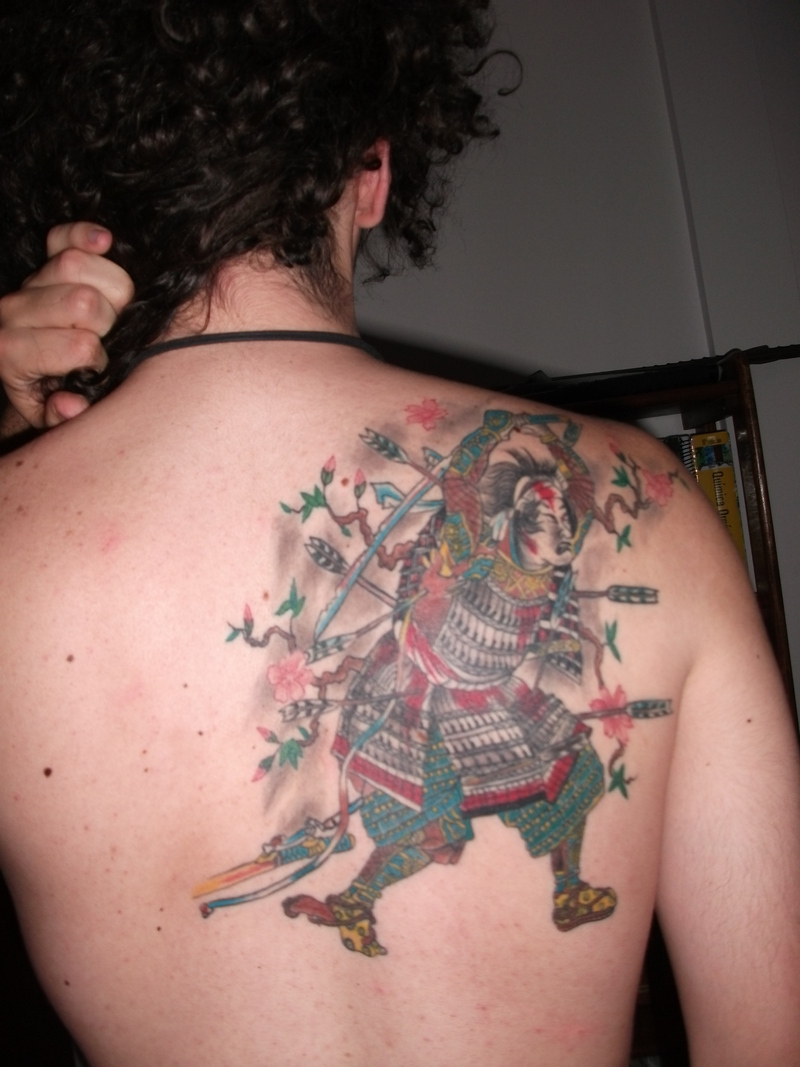 Japanese Samurai Tattoo- Japanese Back Tattoo
