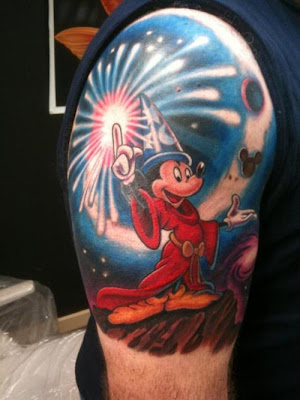 Micky Mouse Disney tattoo.