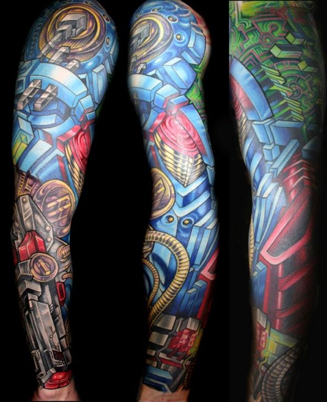 Robotic arm tattoo sleeve for