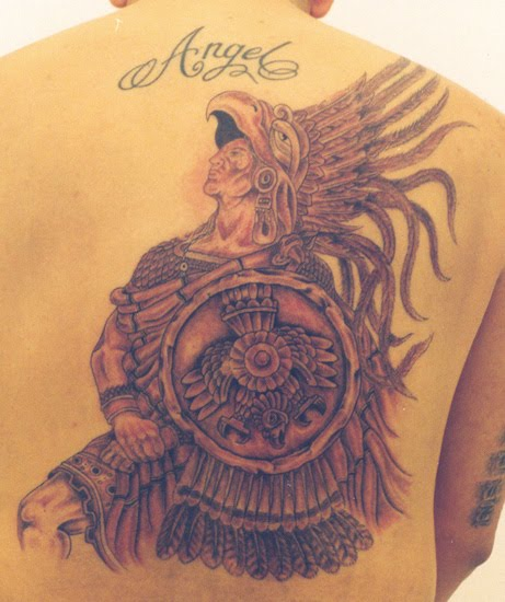 Other common Aztec tattoos include gods, relics and warriors.