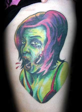 zombie girl tattoo. Zombie Tattoos