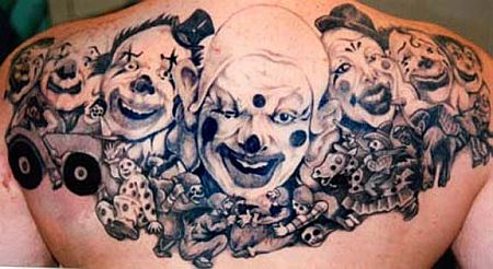 Clown Tattoos on Clown Tattoos   Ideas And Pictures
