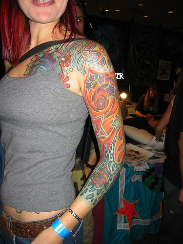 girl tattoo sleeves. Sleeve Tattoos For Girls
