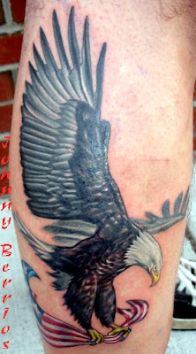 The most common location for an eagle tattoo includes the back, chest,