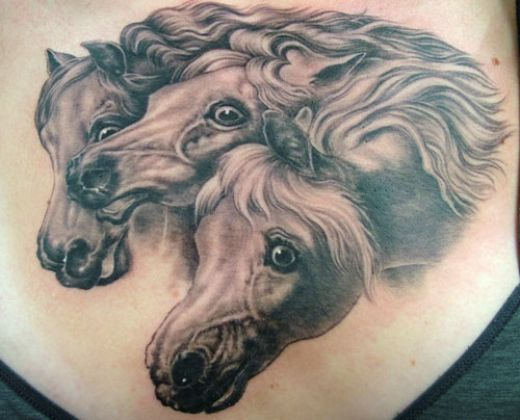 many more tattoo designs gallery: Horse Head Tattoos