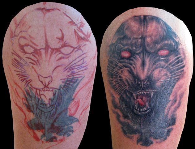 many more tattoo designs gallery: Panther Tattoos