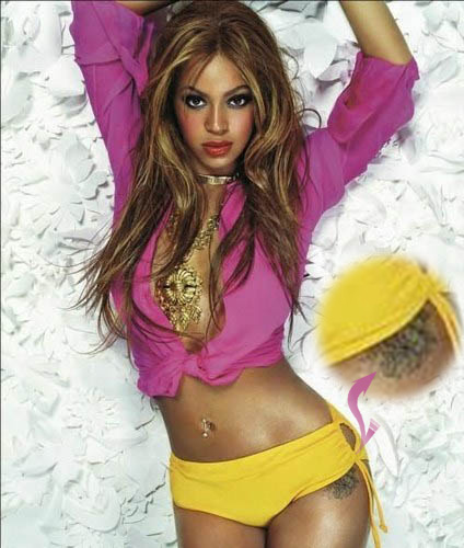 Singer actress extraordinaire Beyonce Knowles has a beautiful hip tattoo