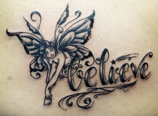 These cute little Fairy tattoos. Fairy Tattoos and