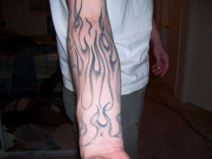 Fire and flames tattoos have also been said to symbolism strength,