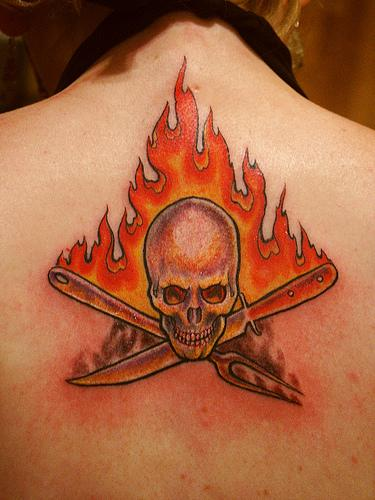 tattoos flames. Fire and Flame Tattoos