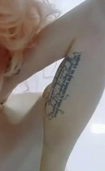 lady gaga tattoo back. Lady Gaga Tattoos