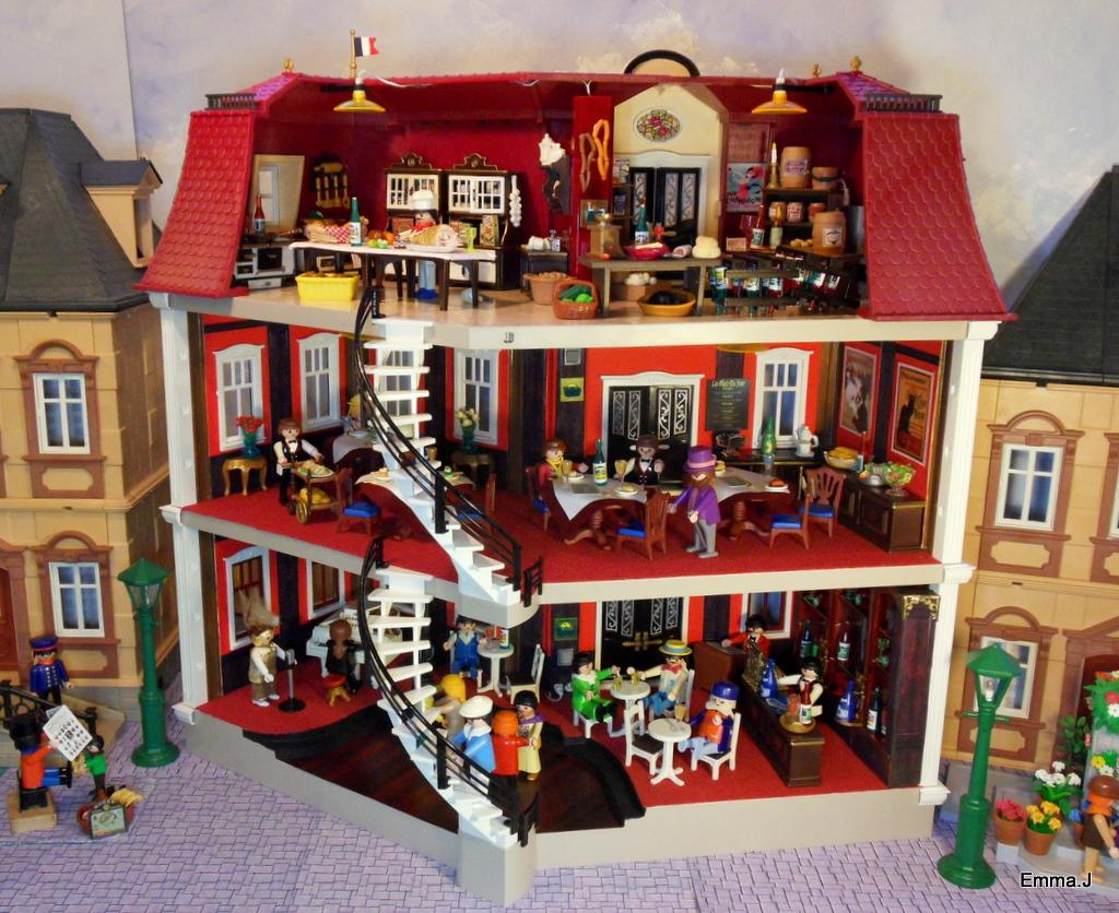 5302 bistro de paris emma j 39 s creations for Mansion de playmobil