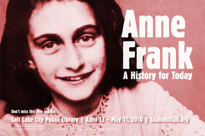 Anne Frank: A History for Today traveling exhibition | ALL ...