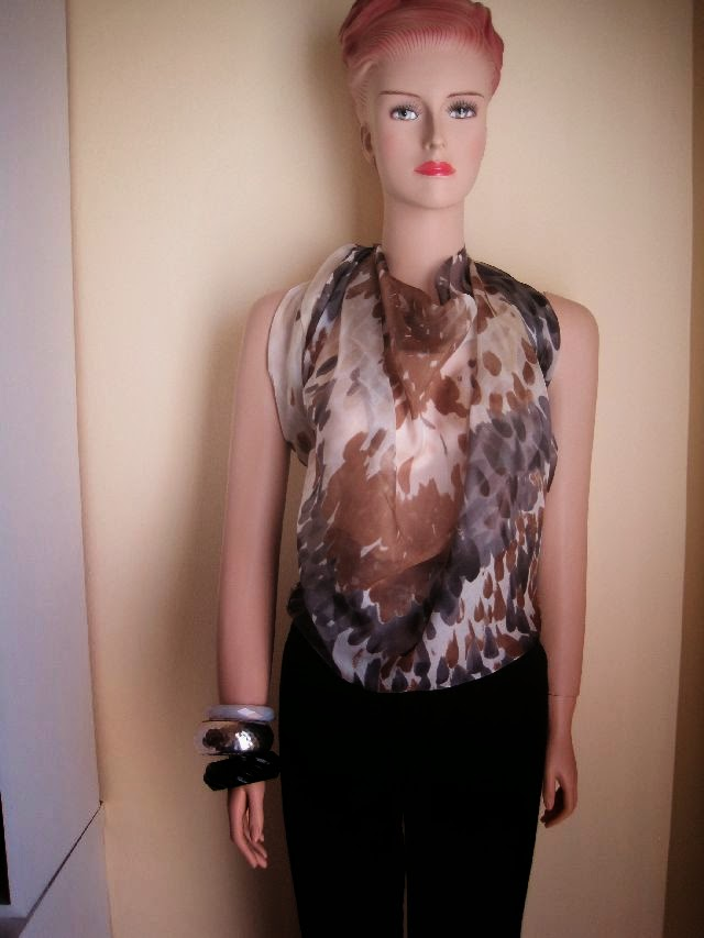 silk scarf top. I bought this piece of silk