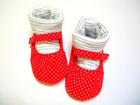 clear stock-MC polka red