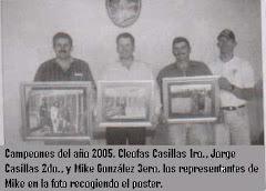 Los 3 primeros lugares del campeonato del año 2005.