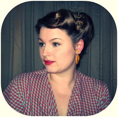 victory roll updo vintage tutorial Irene Adler hair