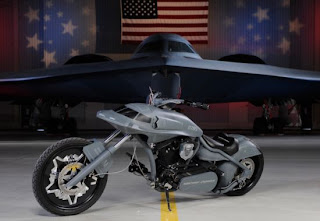 b2 bomber themed motorcycle