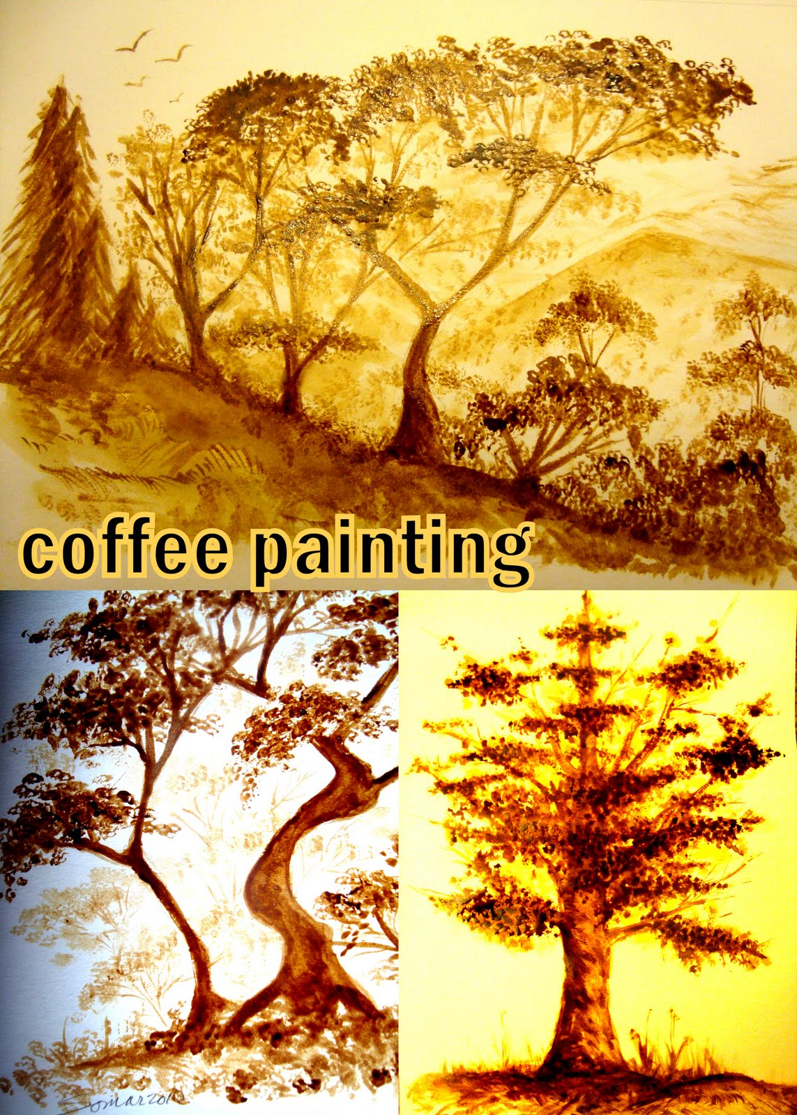 My etraveldiary coffee painting while traveling for Painting with coffee