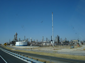 Oil refinery near Pecos Texas